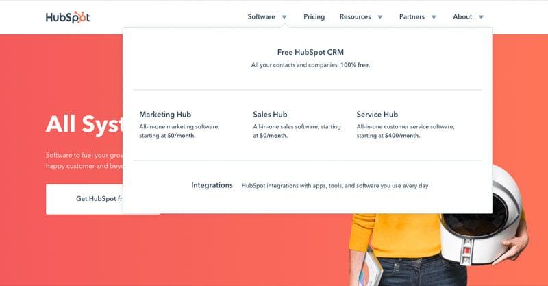 flyouts-navigatie-website-voorbeeld-hubspot