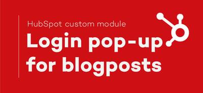 Add a popup login in your HubSpot blog!