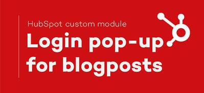 Add a popup login in your HubSpot blog!