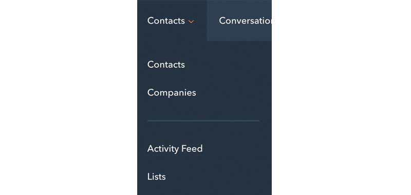 hubspot-nieuwe-navigatie-contacts