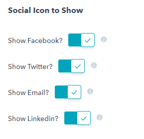 Social icon to show