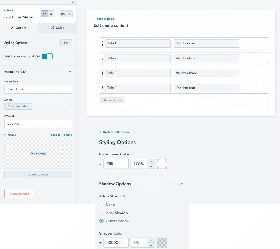 magazine-module-pillar-menu-parameter