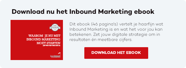 Download nu het Inbound Marketing ebook