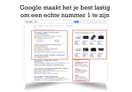 een-nummer-1-positie-in-Google-is-vaak-niet-meer-mogelijk
