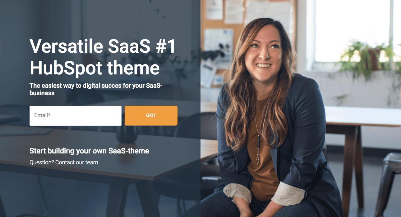 HubSpot SaaS theme alternate homepage (hero floating background)